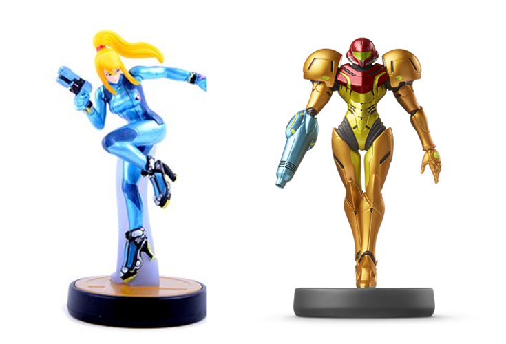 Original Samus and Zero Suit Samus Amiibos