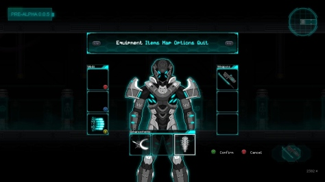 BeyondHuman-EquipmentScreen
